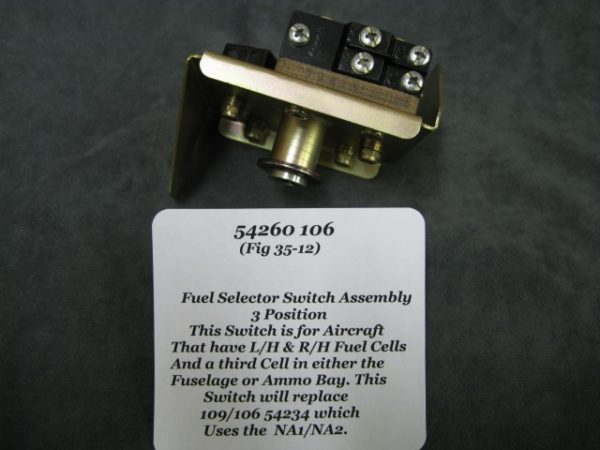 106 54260 FUEL SELECTOR SWITCH, 3 POSITION