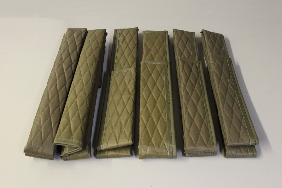 COVERSETGREEN OIL AND COOLANT TUBE QUILTED COVERS