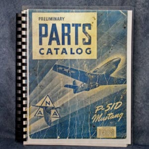 AN01-60JE-4 NAA PRELIMINARY PARTS CATALOG FOR THE P-51D MUSTANG
