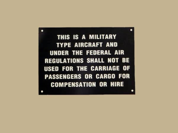 101 10068 THIS IS A MILITARY TYPE AIRCRAFT